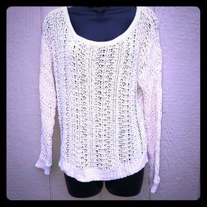 American Eagle | Cream knit sweater size L